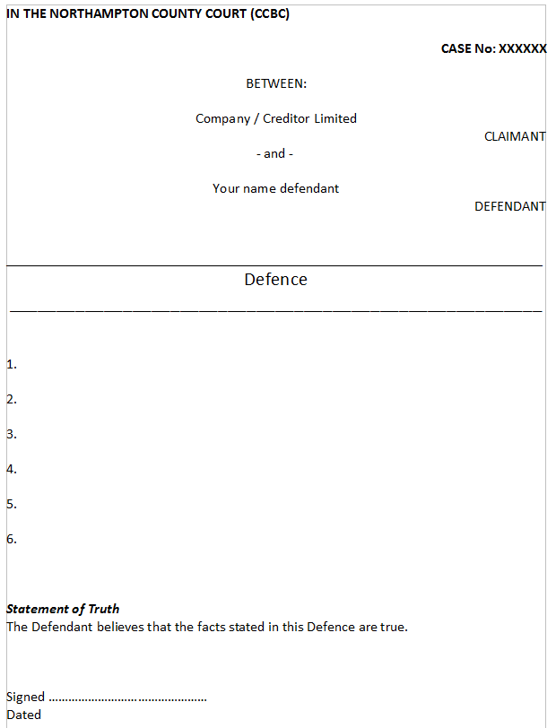 Example defence for consumer credit court claims legalbeagles forum click image for larger version name layoutofdefenceg views 2 size 126 spiritdancerdesigns Gallery